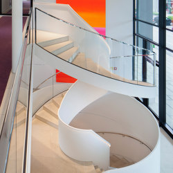 Spiral stairs in timeless design in a Munich office building | Staircase systems | MetallArt Treppen