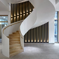 Aesthetically curved spiral staircase at the Hamburg Herz Foundation | Staircase systems | MetallArt Treppen