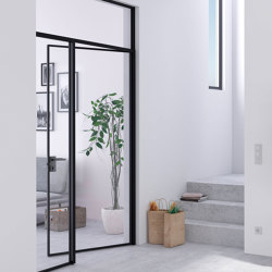 Swing Door Slim Line double-leaf with fanlight | Portes intérieures | raumplus