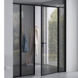 Swing Door Slim Line double-leaf with fanlight and side panel | Internal doors | raumplus