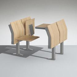 E4000 Tip-up writing table | Auditorium seating | Lamm