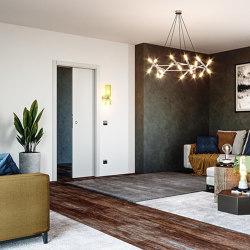 LUMINOX Sliding system with boxes for wall spotlights | Internal doors | Ermetika