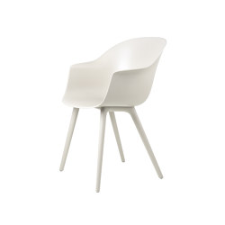 Bat Dining Chair, Plastic edition (Alabaster White) | Chairs | GUBI
