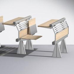 Runner Fixed writing table | Auditorium seating | Lamm