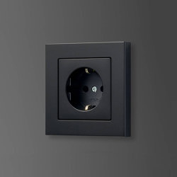 A 550 | SCHUKO socket matt graphite black | Schuko sockets | JUNG