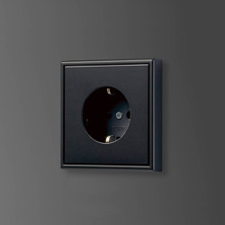 LS 990 SCHUKO-Socket graphite black | Schuko sockets | JUNG