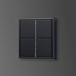 LS 990 | F 40 push-button sensor matt graphite black | Push-button switches | JUNG