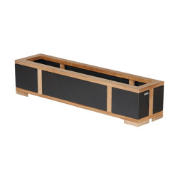 Aura Planter Stand 28 X 100 with teak edging | Plant pots | Barlow Tyrie