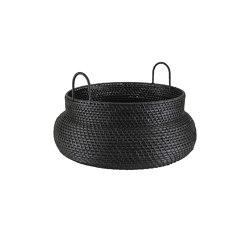 Baskets: Along | Basket Low Version Black | Storage boxes | Ligne Roset