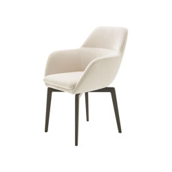 Amédée | Carver Chair Base Anthracite-Stained Beech | Chairs | Ligne Roset