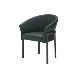Valmy | Carver Chair Base Anthracite-Stained Beech | Chairs | Ligne Roset