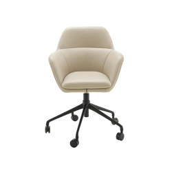 Amédée | Carver Chair Black Base On Castors | Chairs | Ligne Roset