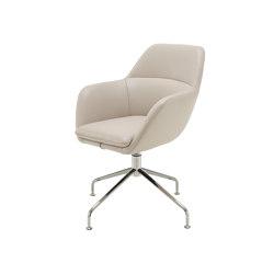 Amédée | Carver Chair Central Pedestal - Brilliant Chrome | Chairs | Ligne Roset