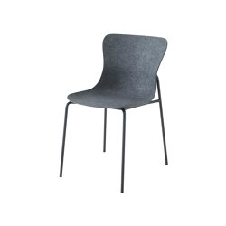 Ettoriano | Chair Anthracite Metal Base | Chairs | Ligne Roset