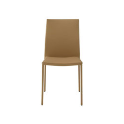 Slim Chair | Chair Beige Leather | Chairs | Ligne Roset