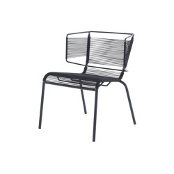 Fifty | Chair Black Indoor / Outdoor | Chairs | Ligne Roset