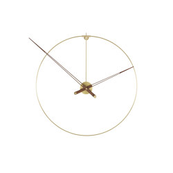 Clock: Pik   Clock Brass   Clocks   Ligne Roset
