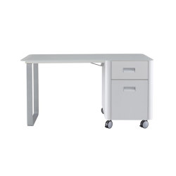 Travel Studio | Desk 1 Drawer + 1 Door To Right White Laminate | Contract tables | Ligne Roset