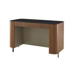 Postmoderne   Desk Walnut / Gloss Black Marble-Effect / Argile Lacquer   Desks   Ligne Roset