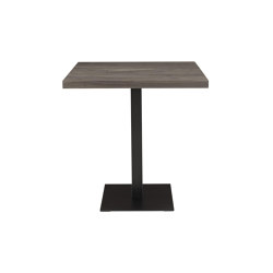 Cumulo | Dining Table Adjustable Base Solid Grey Walnut | Dining tables | Ligne Roset