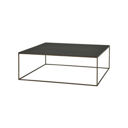Space   Low Table - Large - Top In Metallic Anthracite Ceramic Stoneware Black Chromed Base   Coffee tables   Ligne Roset