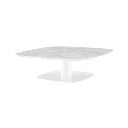 Alster | Low Table Marble Top White Lacquered Base | Coffee tables | Ligne Roset