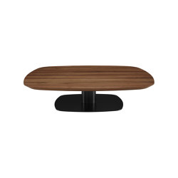 Alster | Low Table Walnut Top Black Lacquered Base | Coffee tables | Ligne Roset