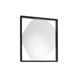 Mirror: Belize | Mirror Small Black Stained Ash | Mirrors | Ligne Roset