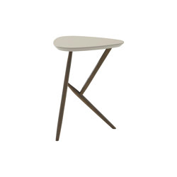 Kiji | Occasional Table Anthracite-Stained Oak Linoleum Pebble | Side tables | Ligne Roset