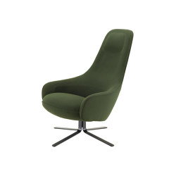Moa | Recliner Black Lacquered Base Complete Item | Armchairs | Ligne Roset
