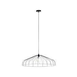 Parachute | Shade Large Black | Suspended lights | Ligne Roset