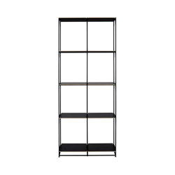 La Bibliotheque Fil | Shelving Unit - H 170 1 Module Black Lacquer | Shelving | Ligne Roset