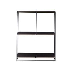 La Bibliotheque Fil | Shelving Unit - H 88 1 Module Chocolat Lacquer | Shelving | Ligne Roset