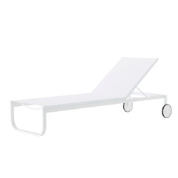 Lettino | Sun Lounger White Fabric | Day beds / Lounger | Ligne Roset