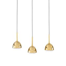 Brass Bell | Suspended Ceiling Light 3 Cables | Suspended lights | Ligne Roset