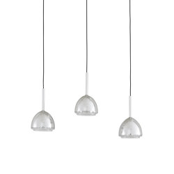 Chrome Bell | Suspended Ceiling Light 3 Cables | Suspended lights | Ligne Roset