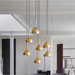 Brass Bell | Suspended Ceiling Light 5 Cables | Suspended lights | Ligne Roset