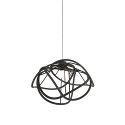 Bloom | Suspended Ceiling Light Black Large | Suspended lights | Ligne Roset