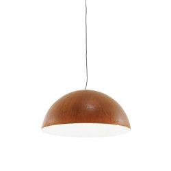 Luna Rossa | Suspended Ceiling Light Rust-Effect Large | Suspended lights | Ligne Roset