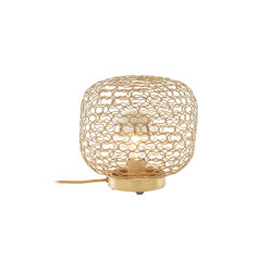 Jali | Table Lamp Brass Grille | Table lights | Ligne Roset
