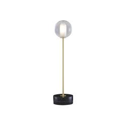 Calot   Table Lamp Brass-Coated Steel Structure / Black Base   Table lights   Ligne Roset