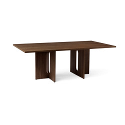 Androgyn Dining Table Rectangular 210 | Dark Stained Oak | Dining tables | MENU