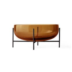 Échasse Bowl Large | Amber Glass / Bronze Brass | Dinnerware | MENU