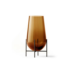 Échasse Vase  Medium   Amber Glass / Bronze Brass   Vases   MENU