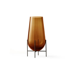 Échasse Vase Small | Amber Glass / Bronze Brass | Vases | MENU