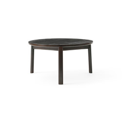 Passage Lounge Table Ø70   Dark Lacquered Oak   Coffee tables   MENU