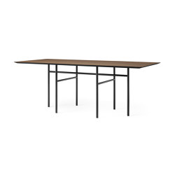 Snaregade Dining Table Rectangular | Black Steel / Dark Stained Oak | Dining tables | MENU