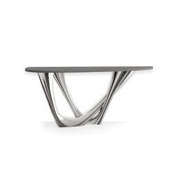 G-Console Duo Inox Steel Base With Concrete Top | Tavoli pranzo | Zieta