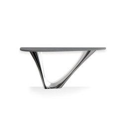 G-Console Mono Inox Steel Base With Concrete Top | Tavoli pranzo | Zieta