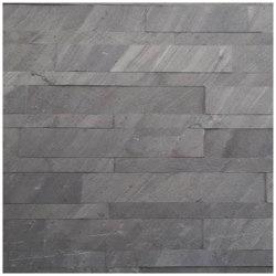 Slate-Lite Riemchen | Riemchen D. Black | Wand Furniere | Slate Lite